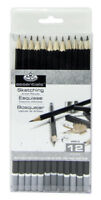 Royal Langnickel Essentials Sketching Artists Graphite Pencils Set of 12 SPEN12