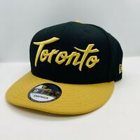 Toronto Raptors New Era Snapback Hat- 9FIFTY Black/Gold Men's OSFM OVO Drake