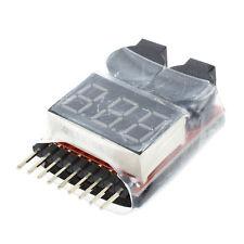 1-8S Lipo LiMn Battery Tester Low Voltage Buzzer Alarm