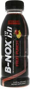 Betancourt   B-NOX Pre-Workout, Ready to Drink 12oz, 12 bottles (CHOOSE FLAVOR)