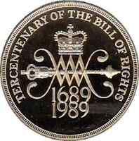 1989 £2 COIN TERCENTENARY OF THE BILL OF RIGHTS 300 YEARS 1689 1989 2 zz