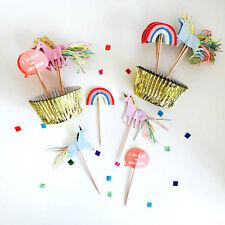 Licorne cupcake toppers & cake cas de luxe de décorations de fête meri meri 24 parti