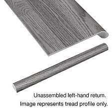 Homes Indoor 47-In Vintage Pewter Oak Laminated Left Return Stairs Tread Cover