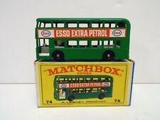 MATCHBOX 1-75 NO 74 LONDON BUS ESSO EXTRA PETROL MINT BOXED NOS (MB116)