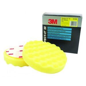 3M High Gloss Extra Fine Polishing Pads Foam Buffing Yellow 3M 50488 - Set of 2