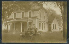 Rare RPPC 1910's MITCHELL TWO SEATER CAR Woman & Child Posing One of a Kind
