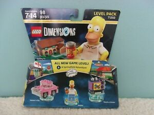 NEW LEGO DIMENSIONS Simpsons - Homer, Taunt-O-Visions, Car Level Pack 71202