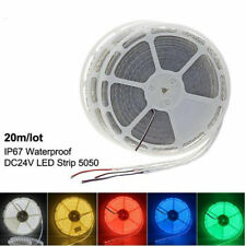 5m 10m 20m LED Strip light 60leds/m 5050 SMD 24V Waterproof RGB White 3M tape DC