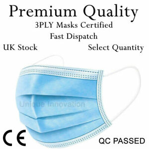Premium Disposable 3ply Non Surgical Medical Face Mask Cover Protection Masks