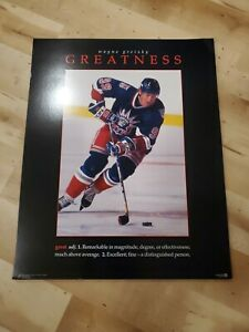 "1997 Wayne Gretzky GREATNESS 16"" x 20"" Poster - Read Description"