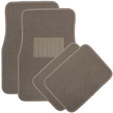 Car Floor Mats for Auto 4pc Carpet Semi Custom Fit Heavy Duty w/Heel Pad Beige