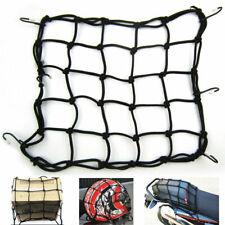 Cargo Net Motorcycle Helmet Mesh Luggage Tie Down Bungee Cord Adjustable Black