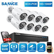 SANNCE 1080P POE IP Videosorveglianza 5MP 8CH NVR Kit Telecamere Con Audio IP66