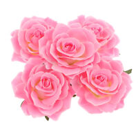 5Pcs Fake Artificial Silk Rose Heads Flower Buds Bouquet Wedding Decor Potted