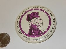 Vintage Pin Button Military Order Purple heart of the USA