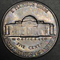 1966 Jefferson Nickel 5C - Gem Uncirculated - Colorful Toning