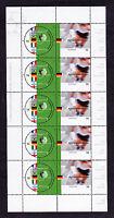 5 x Bund 2228 - 2229 postfrisch KB Zehnerbogen Motiv Fußball 2002 BRD MNH