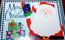 MERRY CHRISTMAS HOLIDAY SEASONS GREETINGS 16 CARDS & ENVELOPES FOIL SANTA CLAUS