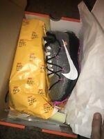 🔥NEW Nike Off White Vapor Street Men 4/Wmn 5.5 Black/Black-White Fuchsia Laser
