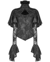 Punk Rave Womens Gothic Blouse Top Shirt Black Brocade Lace Steampunk Vampire