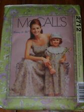 McCalls 2712 April Cornell Mommy and Me Dress Hat Sewing Pattern Uncut FF