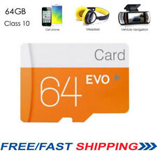 Class10 64GB Micro SD SDHC Flash Memory Card W/ Adapter for Camera Mobile Phone