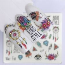 Nail Art Water Decals Stickers Transfers Summer Festival Boho Style Flower A1455