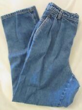 "Ladies ""Liz Claiborne"" Size 12 (W28/L30) Blue, Pleated, Straight Leg, Loose Fit"