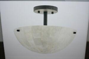 Kichler Opalina 13-in Weathered Zinc Coastal Semi-flush Mount Light