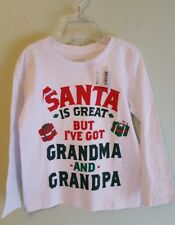NEW Children's Place Unisex Boys Girls 3T Christmas Shirt GRANDMA GRANDPA #10618