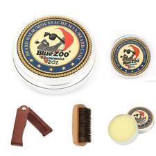 Men Grooming Beard Kit Leave-in Balm Wax Wooden Folding Comb Shaving Brush