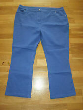 cotton traders blue stretch jeans trousers size 14 leg 27 brand new with tags