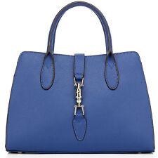 """Thompson Luxury Bags """"Anisha"""" blau Leder, Business Handtasche Tasche - UVP 255 €"""