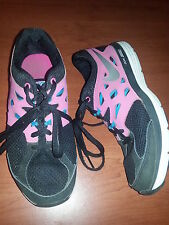 "Nike ""Dual Fusion"" Pink/Black Sneakers Shoes Girls 599295 Size 4.5Y"