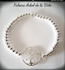 ARBOL DE LA VIDA PULSERA PLATA DE LEY AJUSTABLE TREE OF LIFE BRACELET AJUSTABLE