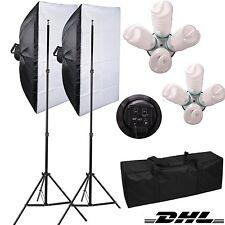 8x135W Fotostudio Set Softbox Set Studioleuchte Studiolampe 50x70cm Softbox DHL