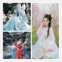 Fairy Lolita Chinese Ancient Ruqun Hanfu Fancy Costume Long Robe Dress Cosplay