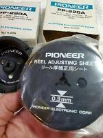 """Pair of Pioneer PP-220A NAB Hub Adaptors for 10.5"""" Reel w/Boxes. 1 Sheet"""