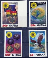 GHANA 1983 COMMONWEALTH DAY SC#822-25 MNH IMPERF BIRD EAGLE MINERALS FLAGS (DE26
