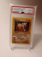 1999 Pokemon Fossil Holo Hitmonlee #7 PSA 8 NM-MINT