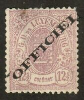 Luxembourg stamp #o17, used, Official, BOB, 1875 - 76, SCV $225