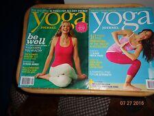 2013 Yoga Journal Magazines -- August & September