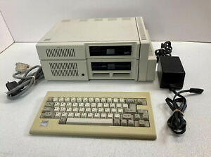 """IBM PCjr 4860 Computer 5.25"""" Floppy Disk w/ Expansion Chassis Keyboard 1983"""