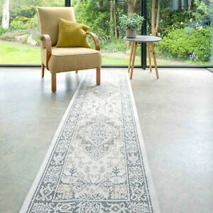 Transitional Beige Flatweave Runner Rug Small Large Cotton Living Room Hall Rugs