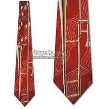 Trombone Ties Instrument Neckties Mens Music Notes Orchestra Band Neck Tie NWT