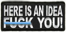 HERE IS AN IDEA ~ FU@K YOU - IRON ON or SEW ON PATCH