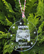 Land Rover Defender 90 Personalised Christmas Bauble Tree Decoration Birthday