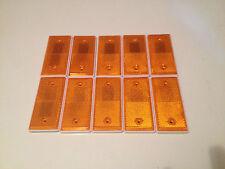Amber Reflectors Pack of 10 self adhesive backing - Trailer Gate Post Lorry Van