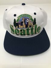 Rare New 90's Vintage SEATTLE Washington Snapback Cap Hat Sonics NWT
