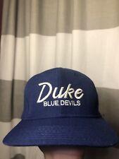 Vintage Duke Univeristy Blue Devils Wool Script Snapback Hat Rare